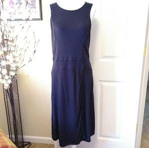 BCBG MAXAZRIA Daniella faux-wrap dress.  Navy blue